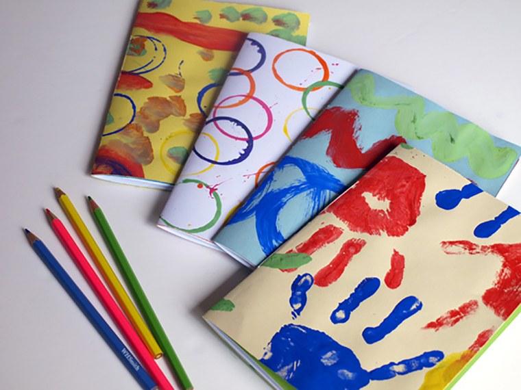 cuadernos decorados acurelas