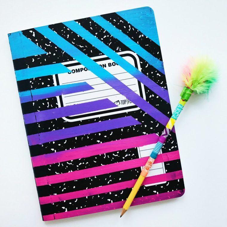 cuadernos decorados adhesivos