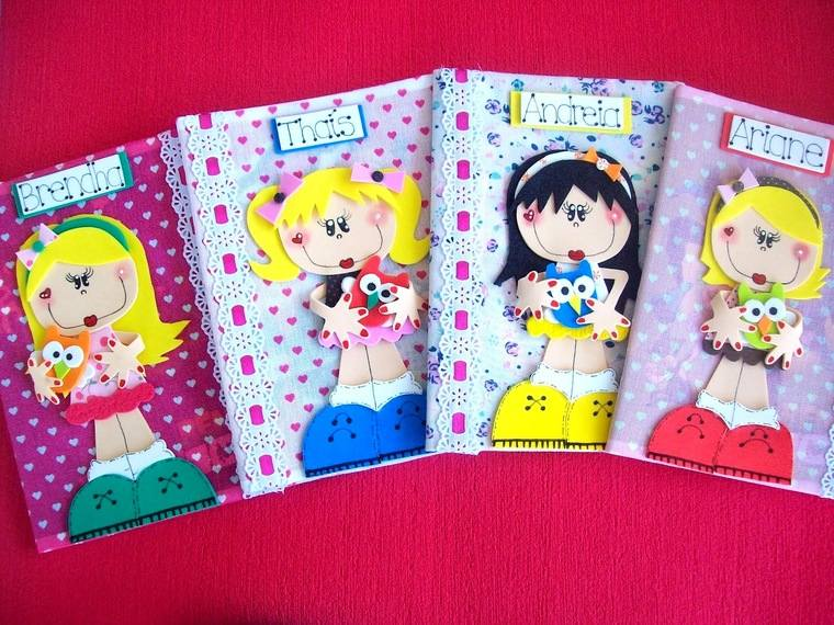 cuadernos decorados bellas
