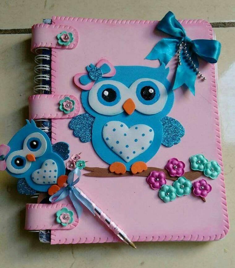 cuadernos decorados buho