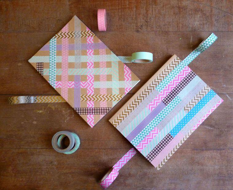 cuadernos decorados cinta