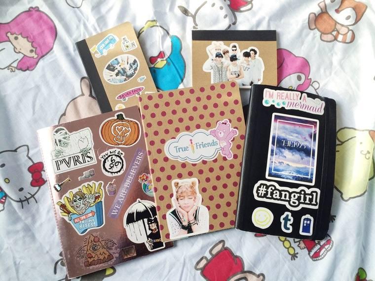 cuadernos decorados diferentes