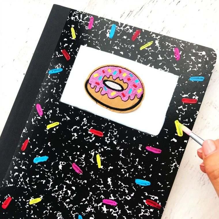 cuadernos decorados esmalte