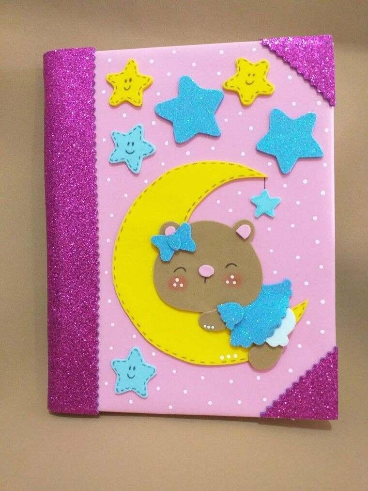 cuadernos decorados foami