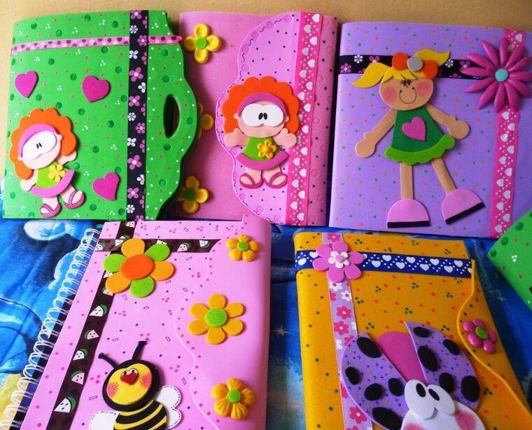 cuadernos decorados foamis