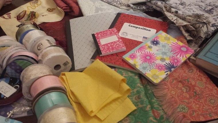 cuadernos decorados material
