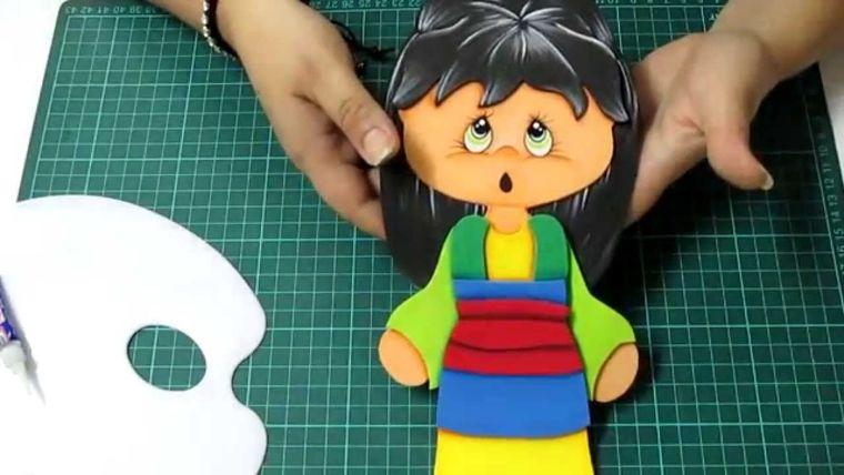 cuadernos decorados muñeca