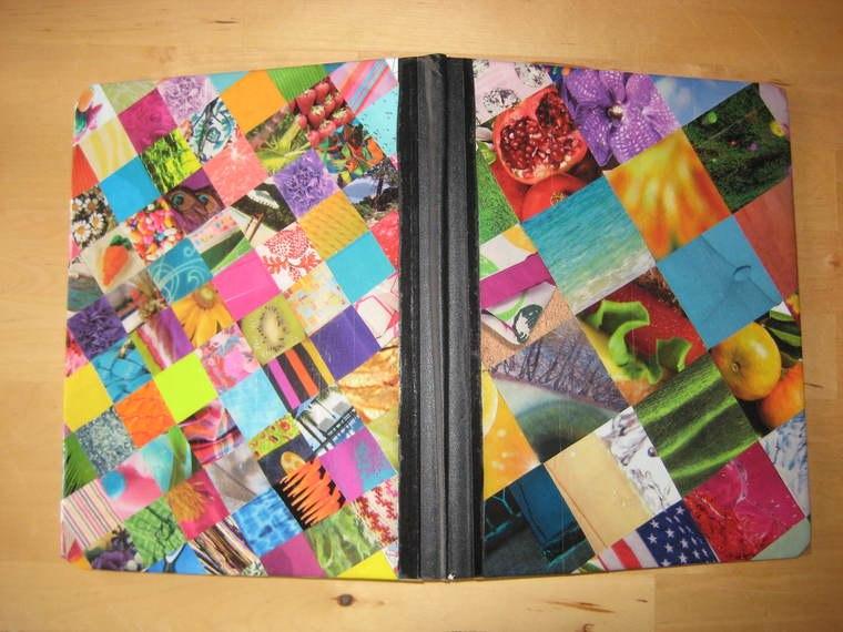cuadernos decorados retazos