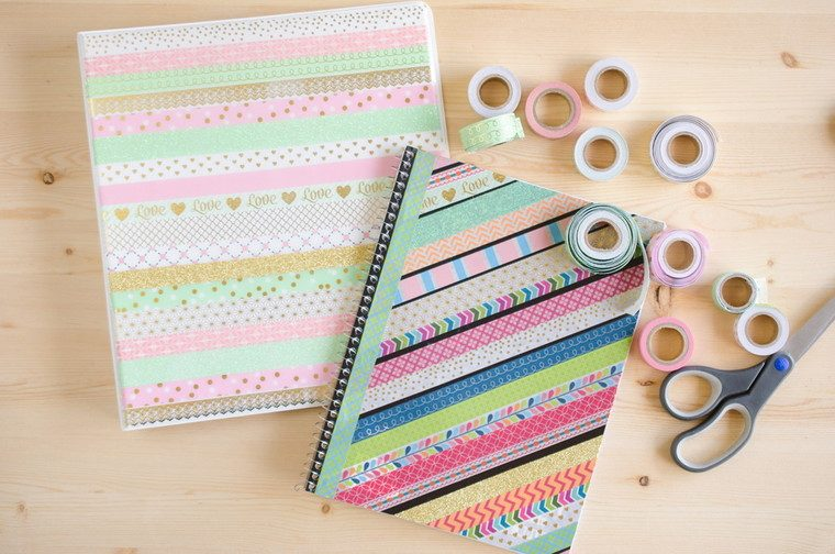 cuadernos decorados washi