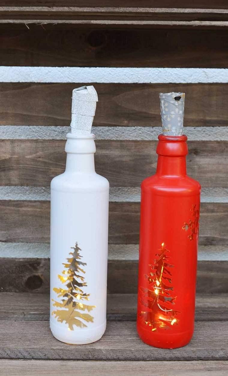 decoracion-navidad-botellas-recicladas