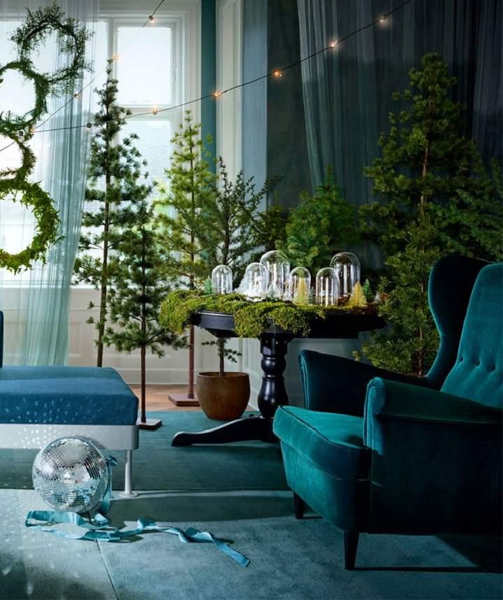 decoracion navideña ideas acentos azul