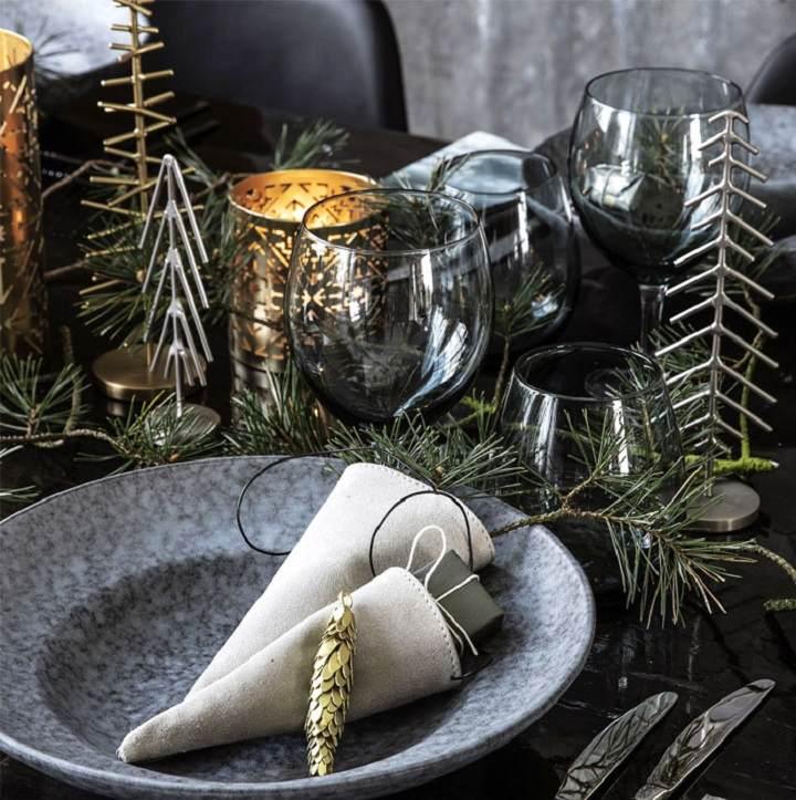 decoracion navideña ideas mesas amplias
