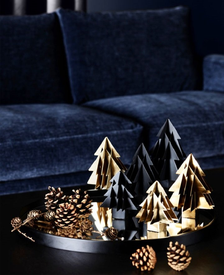 decoracion navideña ideas origami