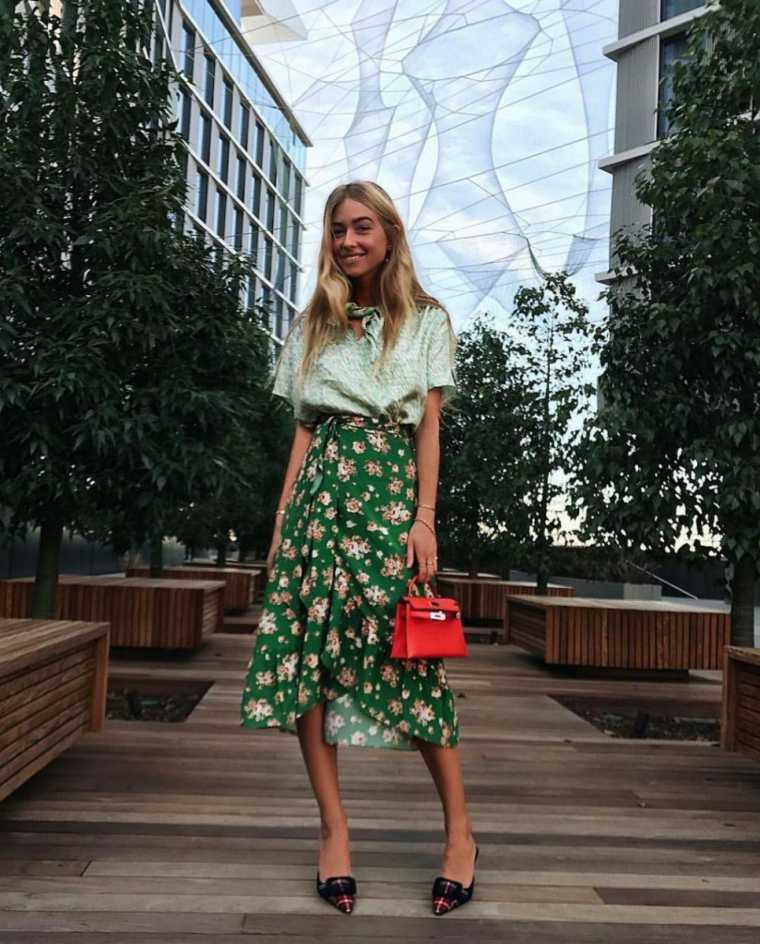 falda-verde-estilo-estampa