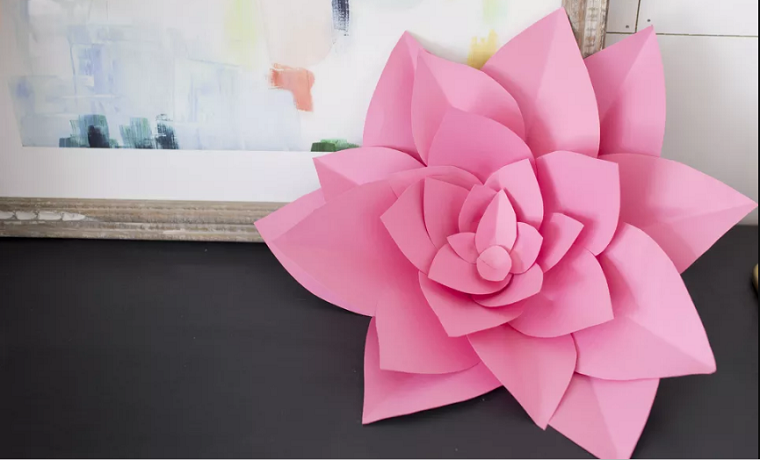 flor-rosa-pared-grande-decorativa