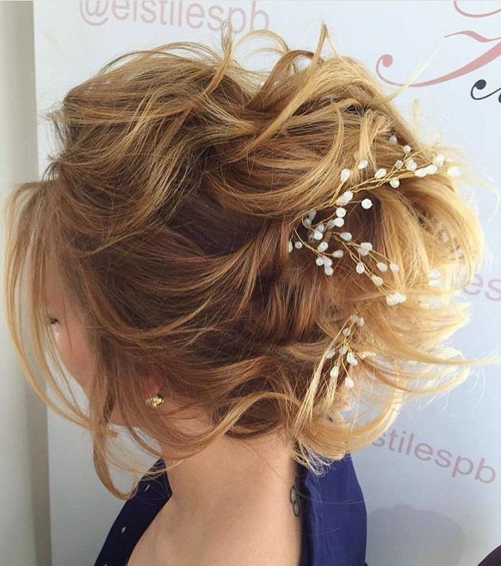 flores pequenas cabello claro ideas