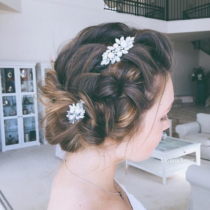 flores tiara corona peinados modernos