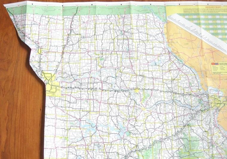 guirnaldas segmentos mapa papel decorativo