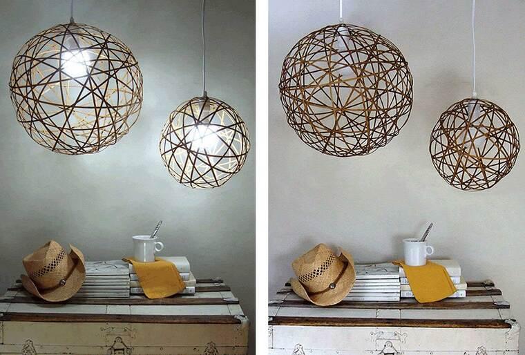 ideas para hacer lamparas caseras bambu