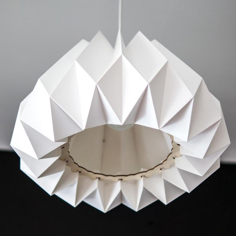 ideas para hacer lamparas caseras blanca