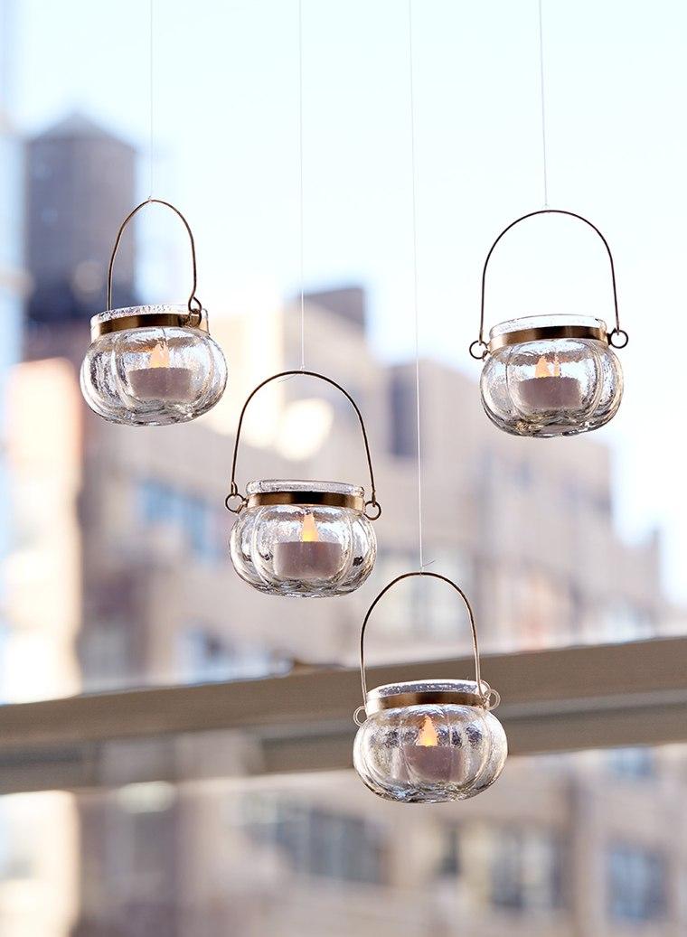 ideas para hacer lamparas caseras candelabros