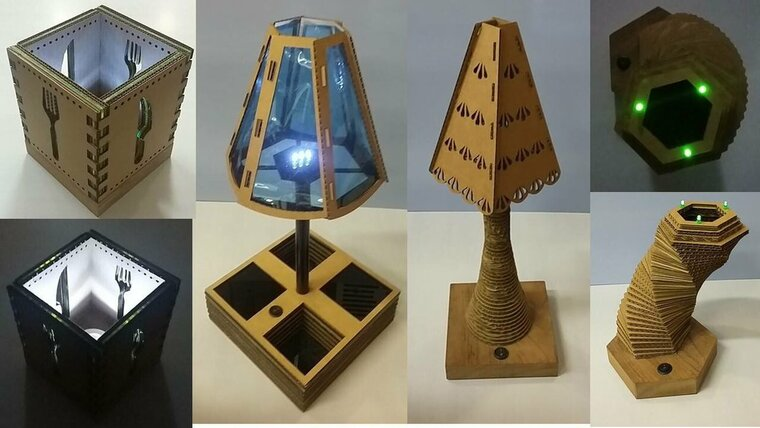ideas para hacer lamparas caseras carton