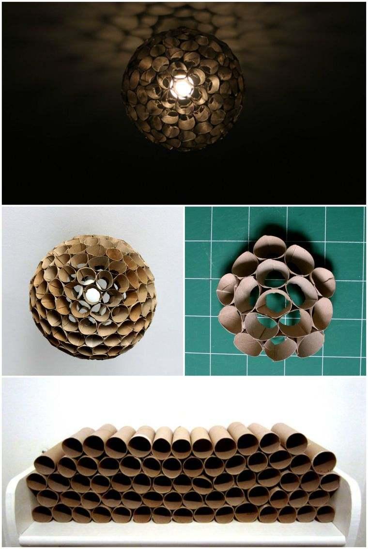 ideas para hacer lamparas caseras cartoncito