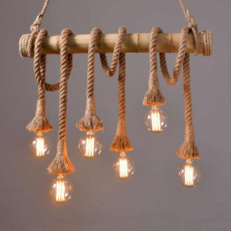 ideas para hacer lámparas caseras cordoness