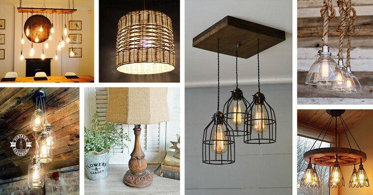 ideas para hacer lamparas caseras distintas