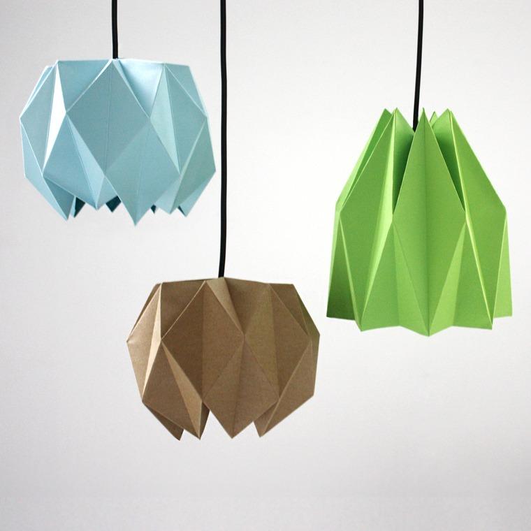 ideas para hacer lamparas caseras doblado