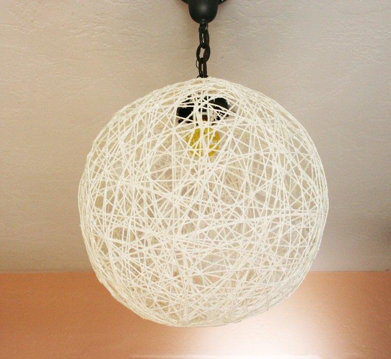 ideas para hacer lamparas caseras hilos