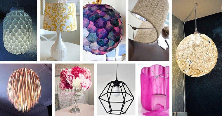 ideas para hacer lamparas caseras inicio