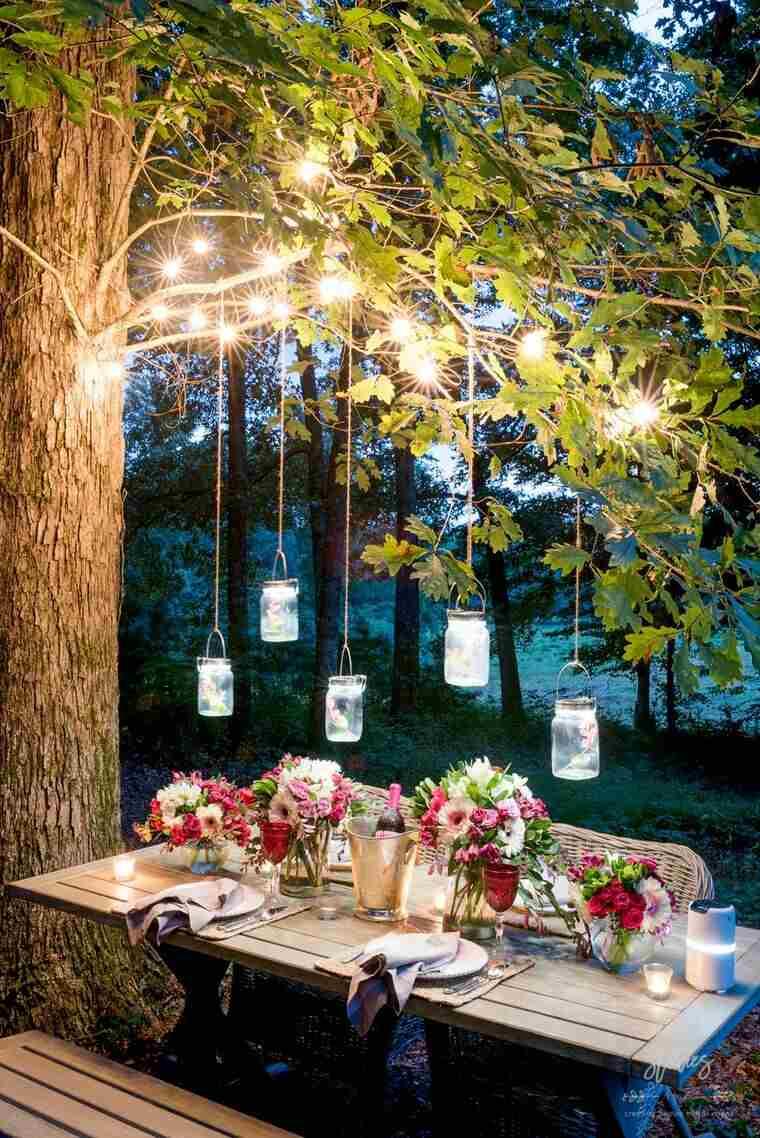 ideas para hacer lamparas caseras jardin