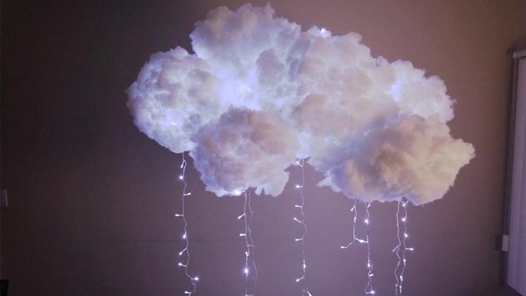 ideas para hacer lámparas caseras nube