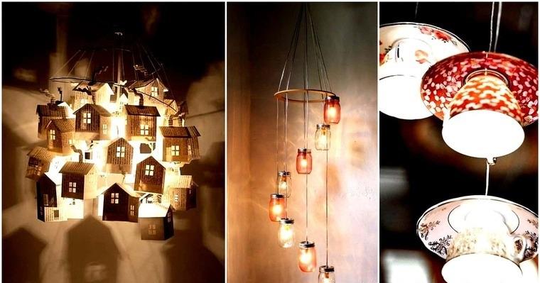 ideas para hacer lamparas caseras originales