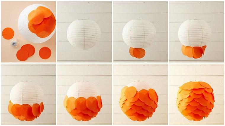 ideas para hacer lamparas caseras papel