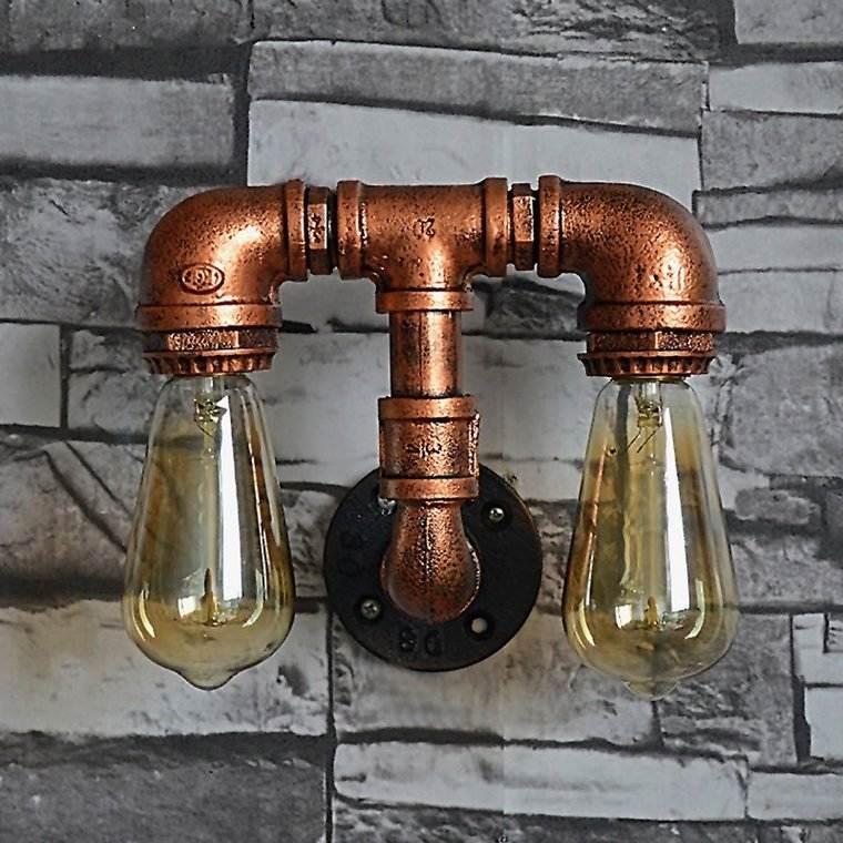 ideas para hacer lamparas caseras tubos
