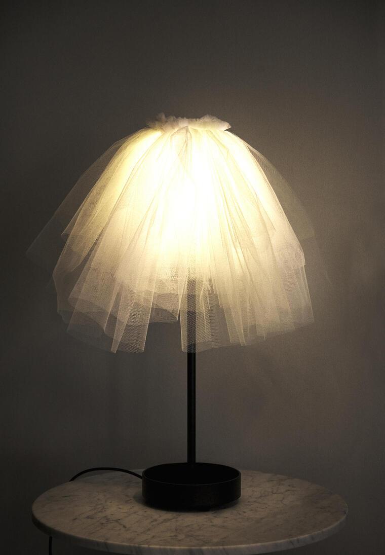 ideas para hacer lamparas caseras tul