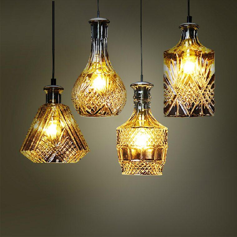 ideas para hacer lamparas caseras vidrio