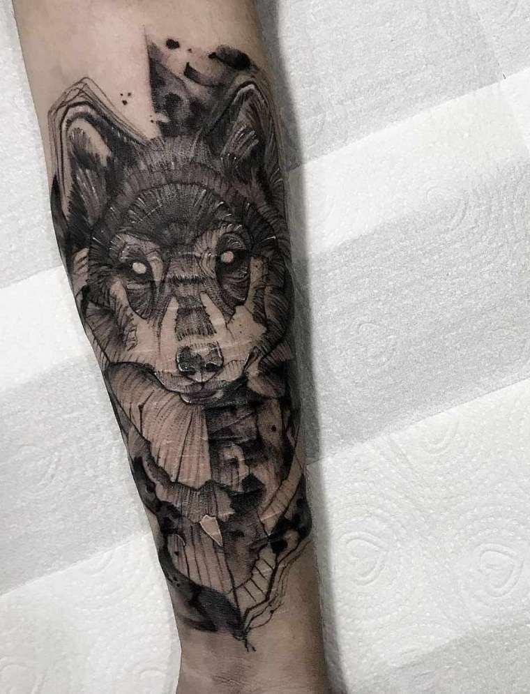 lobo-brazo-ideas-originales-tatuajes