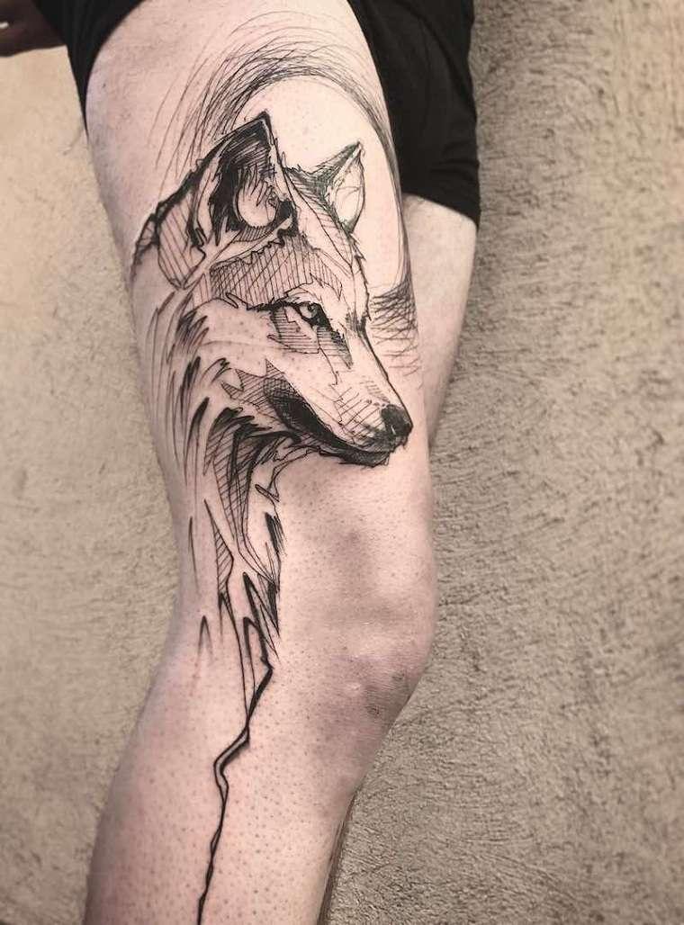 significado de tatuajes de lobos lobo-ideas-Tattoo-Loiseau