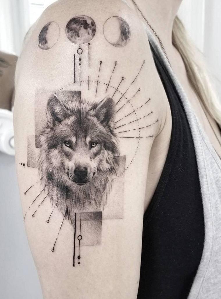 lobo-luna-tatuaje-ideas