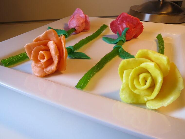 mesa dulce rosas