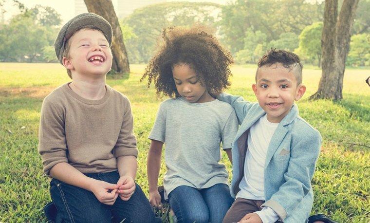 niños sanos y felices