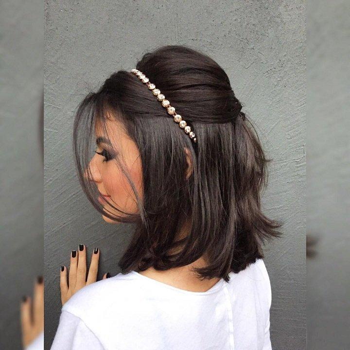 peinados alegres sencillos pelo corto