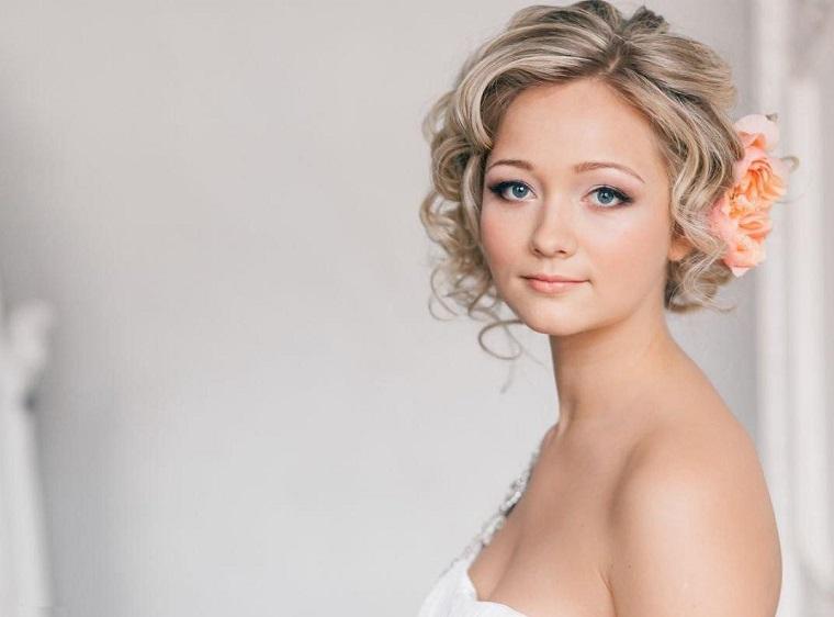 peinados elegantes pelo corto bodas
