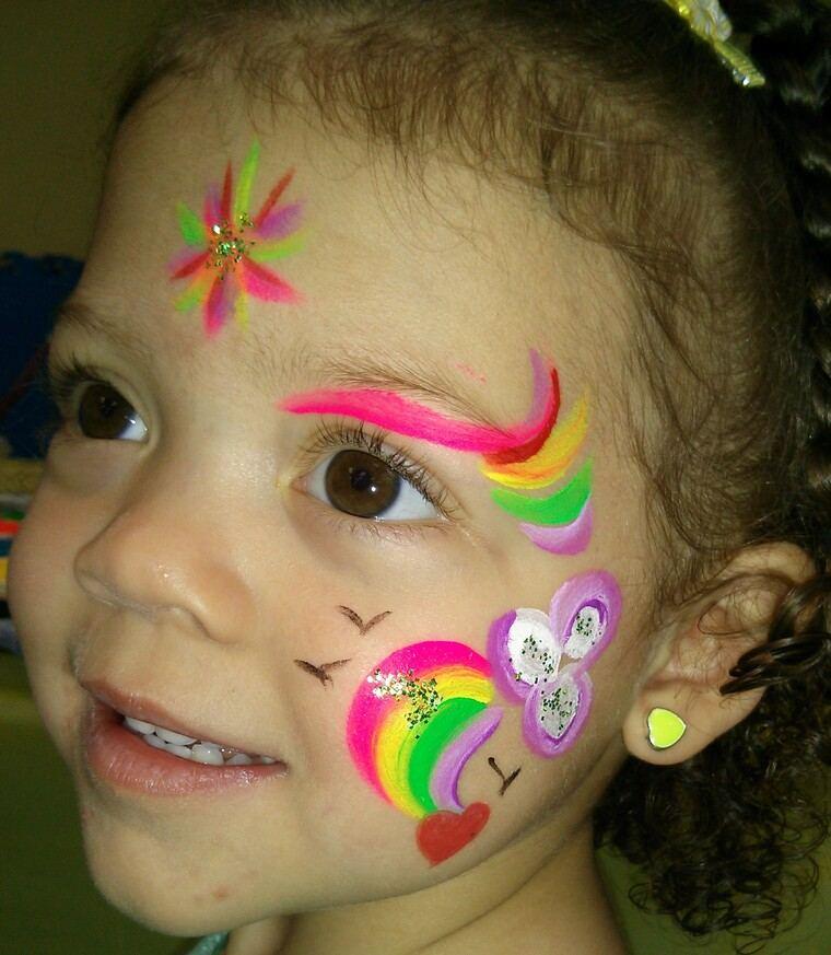 pintacaras infantil arcoiris