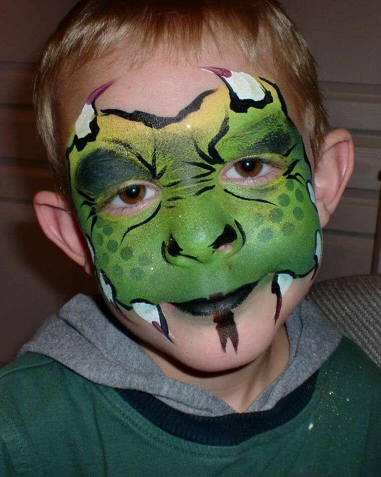 pintacaras infantil dragoncito