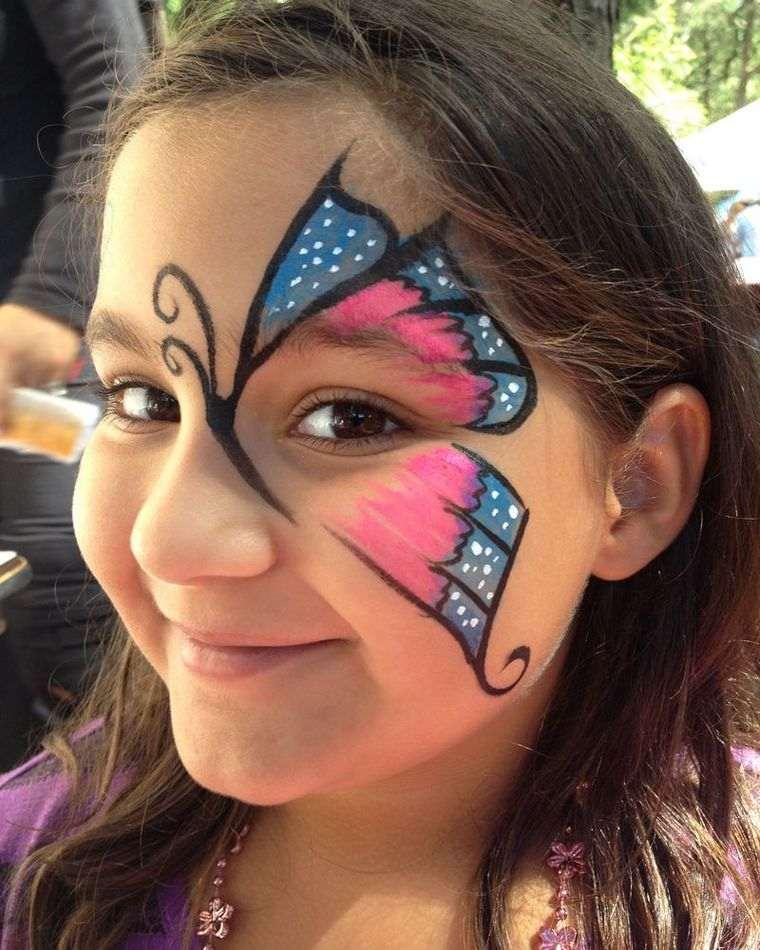 pintacaras infantil mariposa