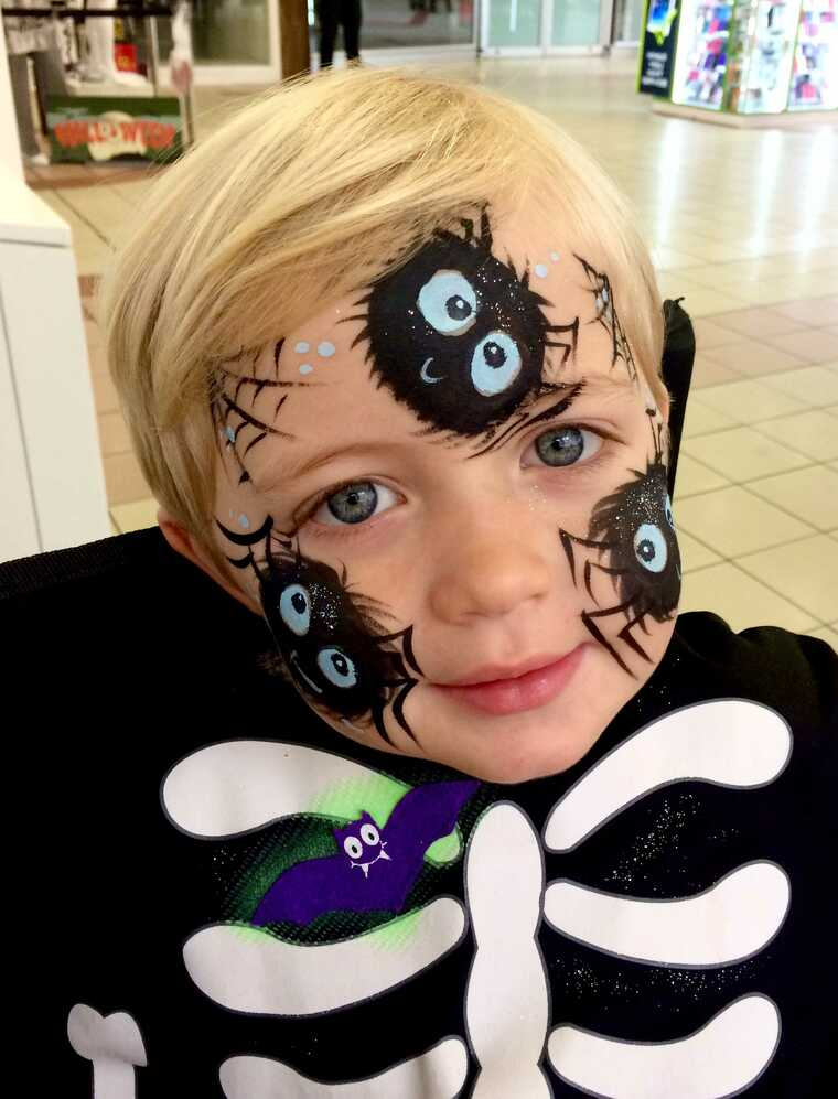 pintacaras infantil spiderman
